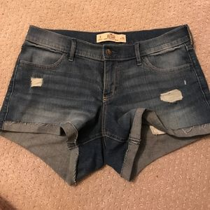 Hollister Jean shorts, light use, 4 inch inseam